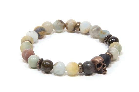 Retrouvez cet article dans ma boutique Etsy https://www.etsy.com/fr/listing/508227332/boho-tete-de-mort-bracelet-hommes