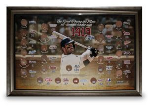 $350 - Steiner Sports Framed David Wright Collage - New York Mets third baseman David Wright burst onto the baseball scene in 2004 and quickly established himself as a force to be reckoned with at third base and at the plate. Wright batted .293 with 17 doubles, 14 home runs, and 40 RBIs in 2004. In 2005 he improved on those stats batting .306 with 42 doubles, 27 home runs, and 102 RBIs. Already the franchise leader in many categories Wright looks to lead the Mets back to October baseball.