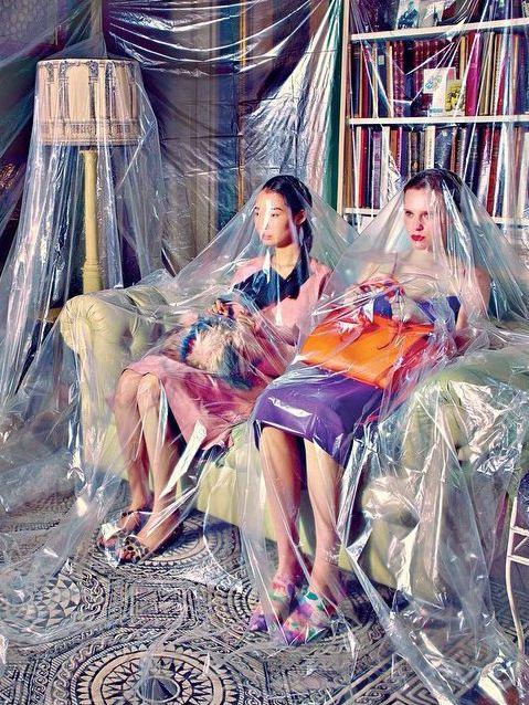 maurizio cattelan + pierpaolo ferrari envision a surreal spring fashion shoot #ferrari