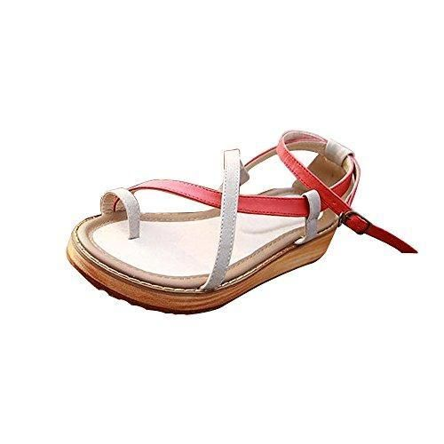 Oferta: 18.99€. Comprar Ofertas de OCHENTA Zapatillas de Moda Sandalias Zapatillas de plataforma para mujer Vino Rojo 40 barato. ¡Mira las ofertas!
