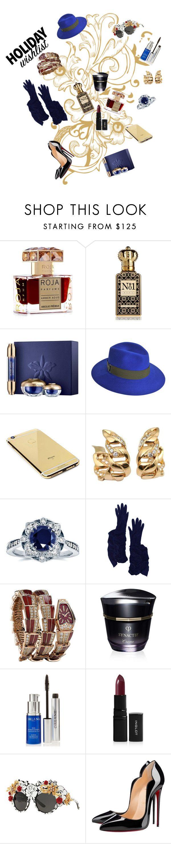 """""""outfit 3008"""" by natalyag ❤ liked on Polyvore featuring Roja Parfums, Clive Christian, Guerlain, Maison Michel, Goldgenie, Cartier, Kobelli, Hermès, Bulgari and Clé de Peau Beauté"""
