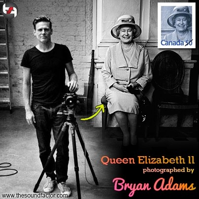 Bryan Adams photographed Queen Elizabeth II for this Canadian stamp.