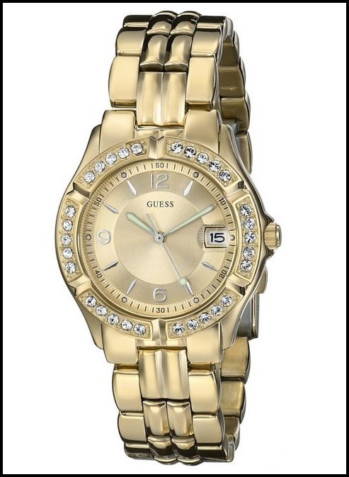 GUESS GOLD-TONE WOMEN'S U85110L1 DAZZLING SPORTY