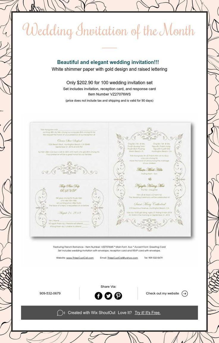 Wedding Invitation Of The Month