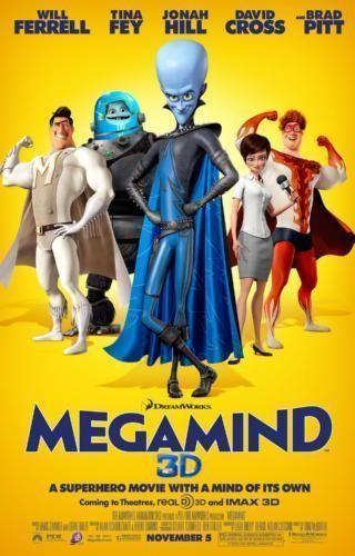 Megamind Poster Standup 4inx6in