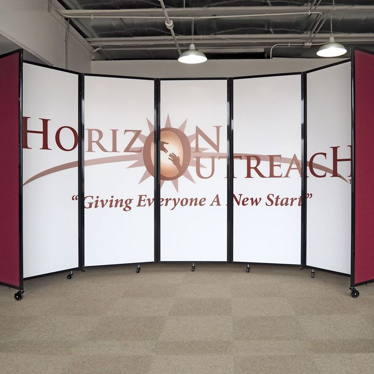 We have used two sets of your portable room dividers to create a temporary office area for our - Movable room divider ideas ...
