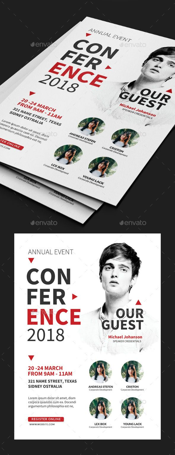 #Business #Conference #Flyer #template - Events Flyers #design. download; graphi...