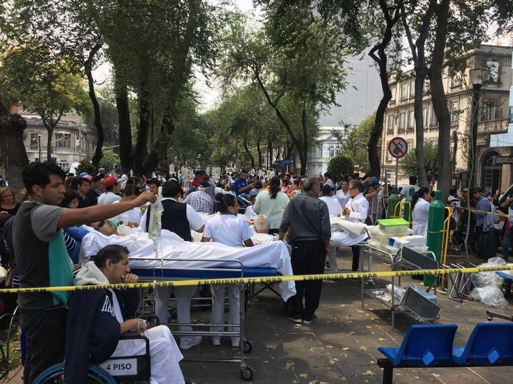 Scenes of Earthquake Damage from Mexico City Neighborhood Reveal City in Rescue Mode