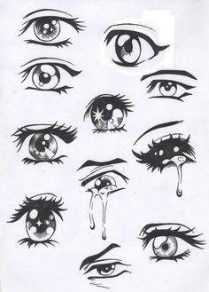 Les yeux mangas                                                                                                                                                                                 Plus