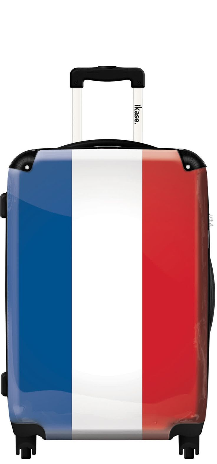 Suitcase French flag