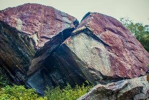 Norways biggest stone in Odda, Hardanger.