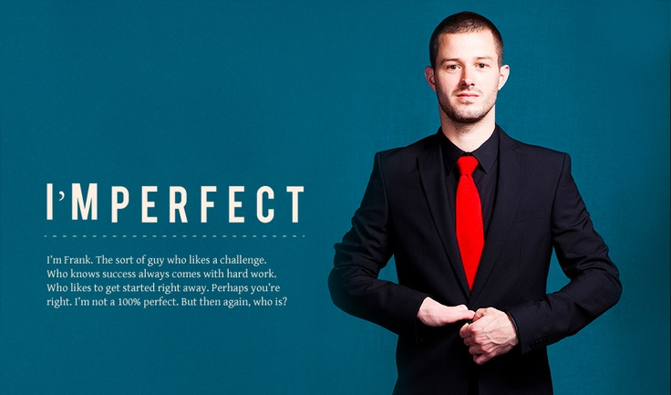 Ad for Dutch Fashion Label Pelliano.  I'MPERFECT campaign was conceptualized by Bastiaan van de Werk from bransoncompany