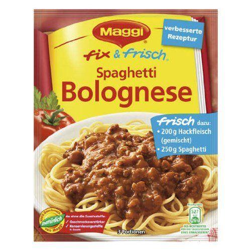 MAGGI fix and fresh spaghetti bolognese (Spaghetti Bolognese) (Pack of 4) -- Insider's special review you can't miss. Read more  : Fresh Groceries