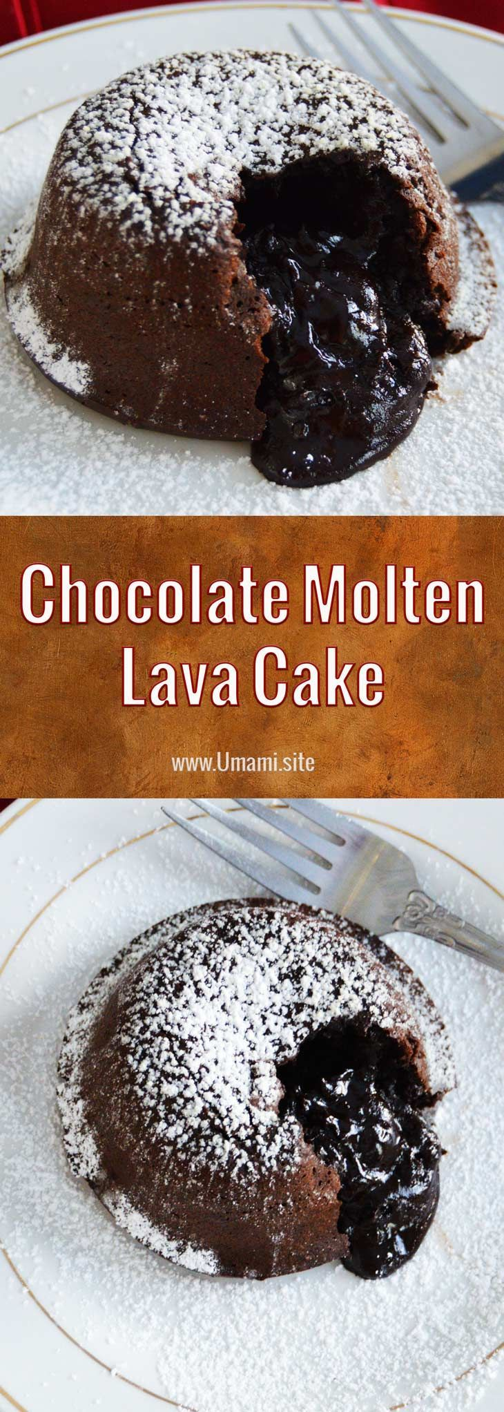 Chocolate Molten Lava Cakes are a dessert that is easy to make and a great way to finish off a romantic dinner at home or make a crowd of chocolate lovers very happy. #recipes #chocolate #cakes