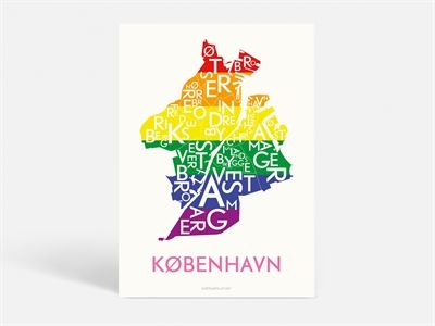 Here in Copenhagen, love is for everyone! And Kortkartellet support all kinds of love. So we've made a colorful pride-poster just to celebrate love!