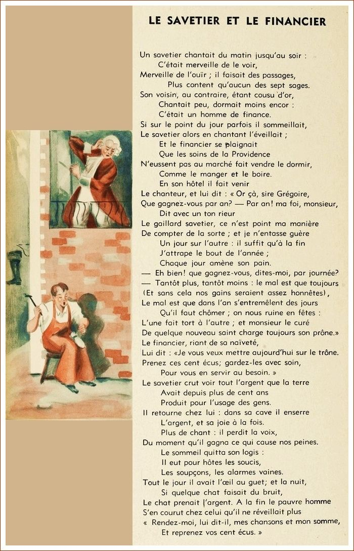 Le Savetier Et Le Financier : savetier, financier, Savetier, Financier, Aprender, Francês