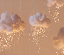 Cloud lights would look awesome in a baby's room or little kids play room