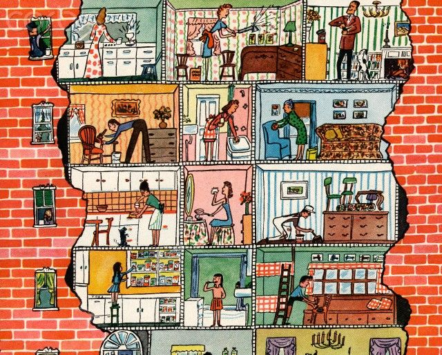 Apartment Building Illustration 190 best dollhouse illustrations images on pinterest | cutaway