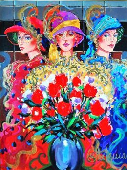 Three Ladies with Wildflowers (63 pieces)