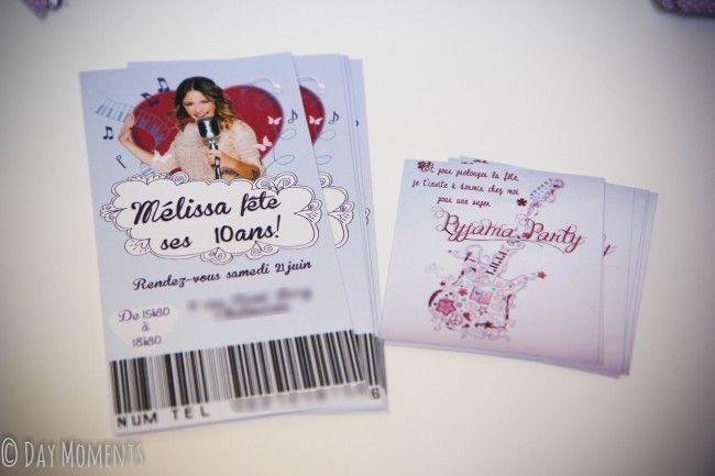 Anniversaire Violetta carte d'invitation
