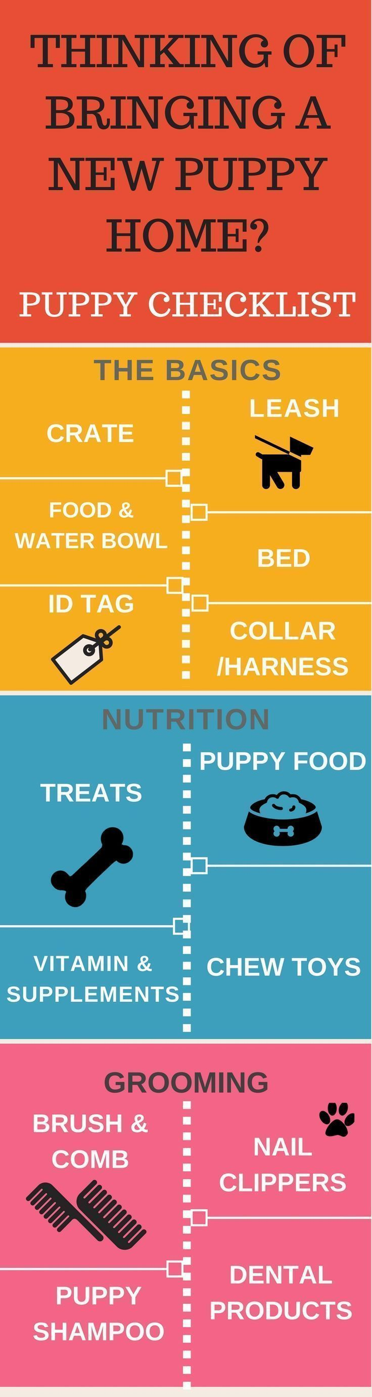 Thinking of bringing a new puppy home? There is a lot to do. Puppy Checklist can your life a lot easier. Puppy Training Tips | Puppy Infographics | Dog Infographics | Puppy Checklist | Crate | Puppy treats | Puppy Food |  https://hope-coming.com/ #puppytrainingcratetips #doginfographic