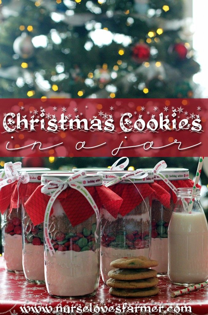 Christmas Cookies in a Jar - Nurse Loves Farmer  Made these and they are delicious! I doubled the recipe and only used 1 cup smarties for the double batch! Fit perfect in a 1L mason jar!