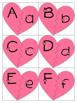 Free Helping Hearts Alphabet Match