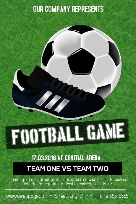 soccer poster soccer online poster maker