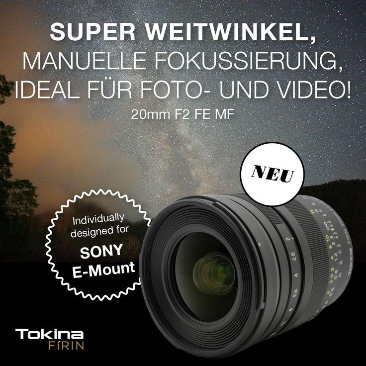 Das lichtstarke Tokina FiRIN 2/20 mm FE MF wird Euch als Fotograf UND Filmemacher begeistern. Das 20 Millimeter Superweitwinkel ist manuell zu fokussieren und erlaubt das mechanische entkoppeln des Blendenrings. Damit bleibt Ihr variabel und passt das Objektiv Euren Bedürfnissen an. Ihr bestimmt ob  die Blende stufenlos oder mit dem fototypischen Klicken verstellt wird. www.hapa-team.de #tokina