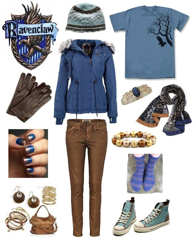 Ravenclaw (I'm not a Ravenclaw but I like this look!)