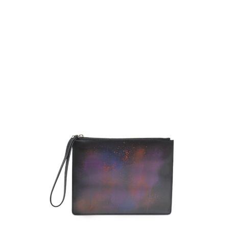 CHRISTOPHER KANE Spray Paint Lenticular Clutch. #christopherkane #bags #shoulder bags #clutch #leather #hand bags