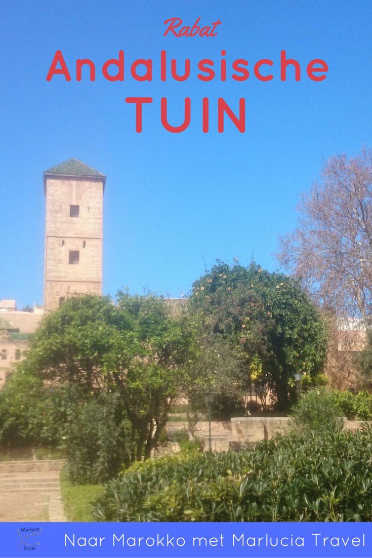 De Andaluische Tuin. In Rabat, ligt verscholen achter hoge muren van de Kasbah Oudayas de Andalusische Tuin (ook wel de Jardin van Oudayas genoemd).