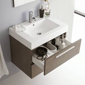The hidden storage in this vanity unit is perfect for jewelery and make up.