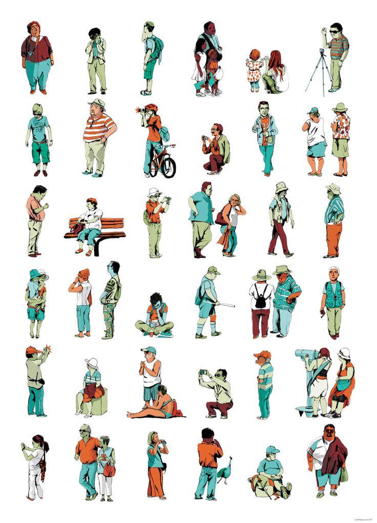 Jim Field - Tourists Poster