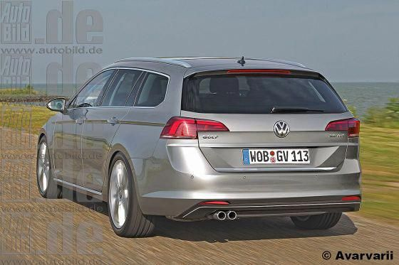 vw golf viii variant illustration