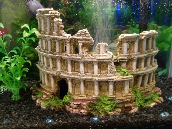 Colosseum Deco made ​​for aquarium water plants cool ideas sound