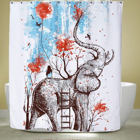 Hey, I found this really awesome Etsy listing at https://www.etsy.com/listing/256941328/happy-elephant-shower-curtain