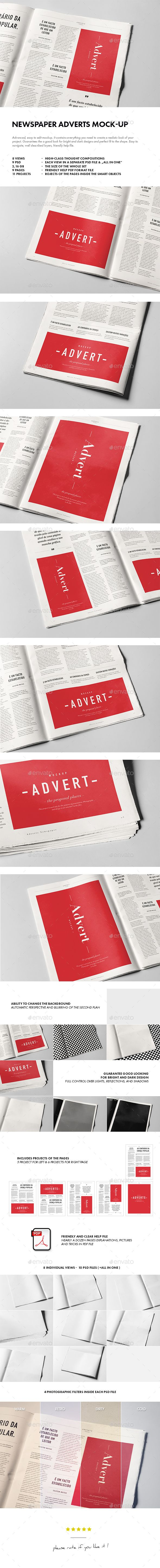 Newspaper Adverts Mock-up. Download here: http://graphicriver.net/item/newspaper-adverts-mockup/14939152?ref=ksioks