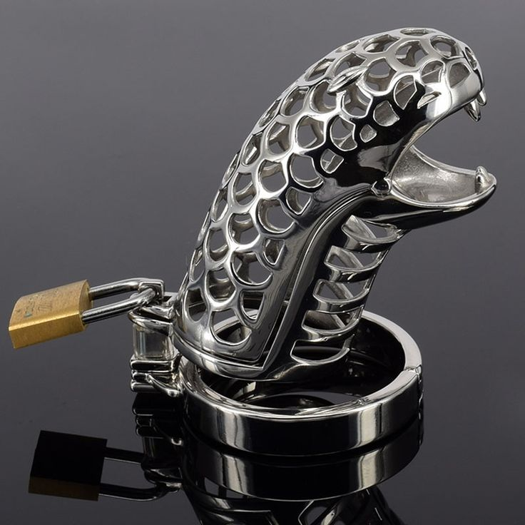 27.46$  Watch here - http://aliqve.shopchina.info/go.php?t=32660285473 - New design snake shaped stainless steel male chastity cage cb6000s device men penis lock bondage cock cages sexual cbt devices 27.46$ #aliexpress