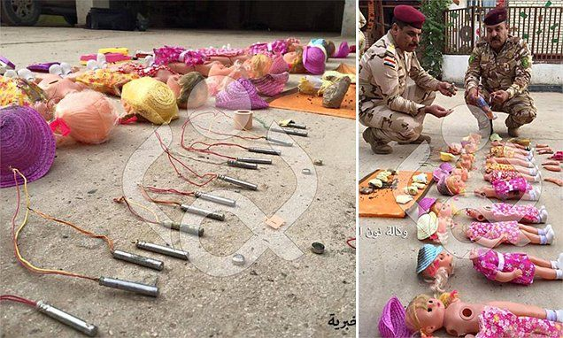 Iraqi military reveal IEDs placed in dolls toys by ISIS