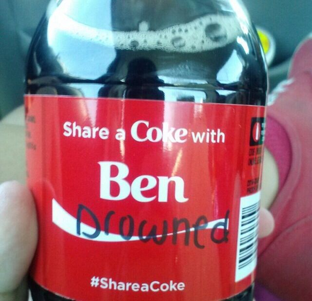 BEN!  Here's a coke for you ..