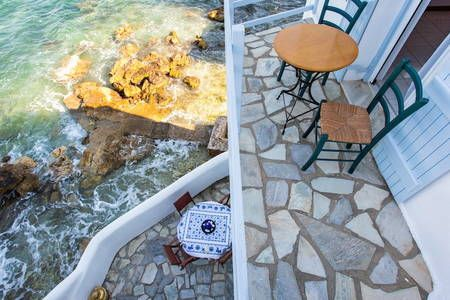 Check out this awesome listing on Airbnb: House with balcony on the sea - Houses for Rent in Paros