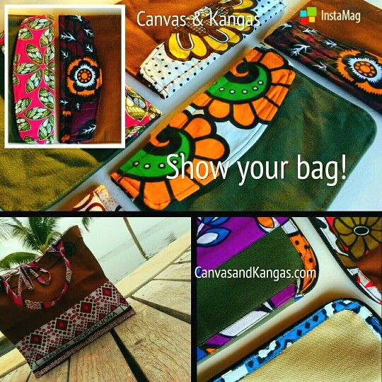 Be proud of your Canvas & Kangas bag. Show your bag! CanvasandKangas.com.