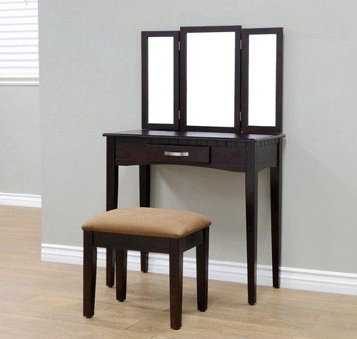 Corner Makeup Vanity Set