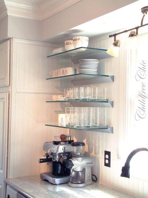 Glass Shelves Want Kitchens Pinterest