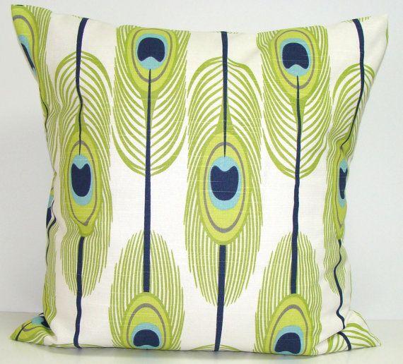 basement bedroom - GREEN Pillows, BLUE Pillows, Feather Pillow Cover, Decorative Pillow, Green Throw Pillow, Feather Pillows, Pillow, All Sizes, Euro, Cushion