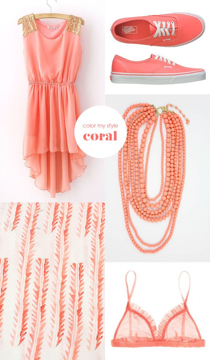 tnx for the shout out @kind of style ! Color my style: Coral Coral is a trending color this spring and actually it is one of my favorites too! Images: Dress - SheInside |Vans | Necklace - Shop design spark | Pattern - Cloth paper cloth | Bra - Clo Dulce