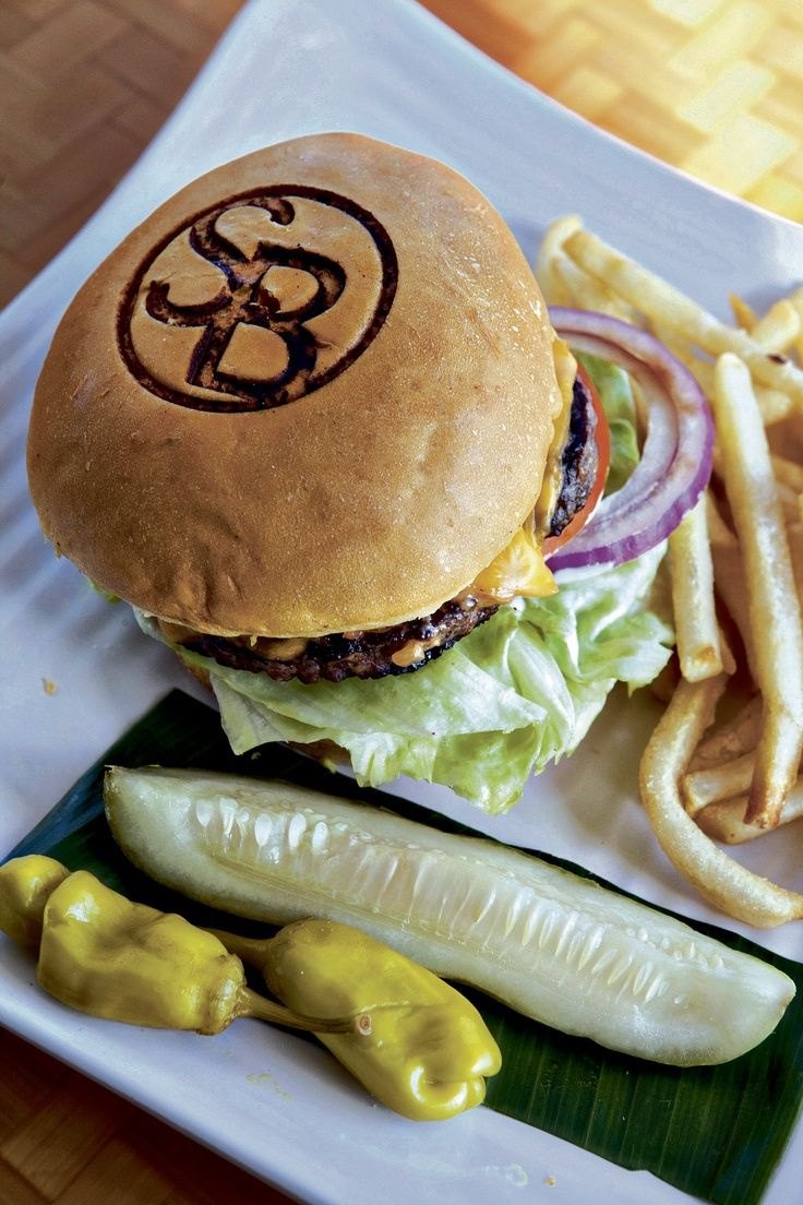 Shore Burger at Shore Bird Restaurant & Beach Bar
