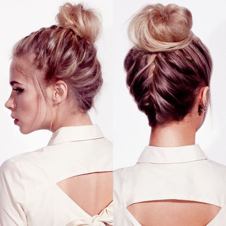 SUMMER WEDDING HAIR: Headmasters' braided wedding knot CLICK HERE FOR OUR HAIR HOW-TO
