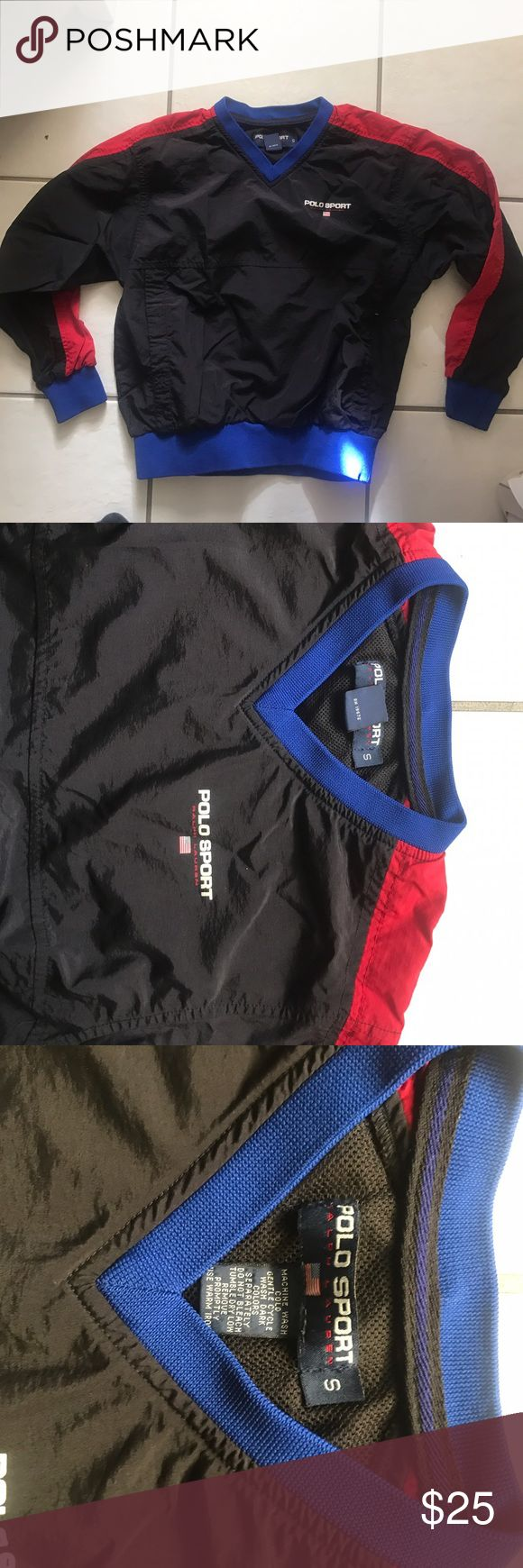 Vintage Polo Sport pullover windbreaker Vintage Polo Sport kids pullover windbreaker in great condition feel free to make an offer Polo by Ralph Lauren Jackets & Coats Raincoats